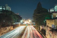 Free Time Lapse Photography Of Road At Night Stock Image - 134421601