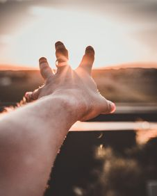 Free Close-Up Photo Of Hand During Sunset Stock Images - 134472824