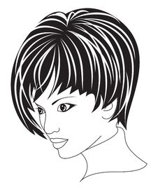 Free Beautiful Woman With Short Hair Royalty Free Stock Photo - 13452825