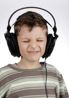 Free Kid With Headset Stock Photography - 13462962