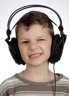 Free Child With Headset Royalty Free Stock Image - 13462976