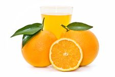 Free Oranges And Orange Juice Royalty Free Stock Photos - 13466628