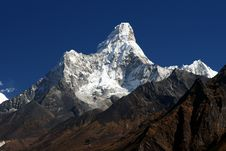 Free Ama Dablam In Nepal Royalty Free Stock Photography - 13467487