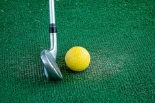 Free Ball Game, Putter, Grass, Tennis Equipment And Supplies Stock Image - 134700551