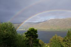 Free Rainbow, Sky, Highland, Meteorological Phenomenon Stock Photos - 134700563