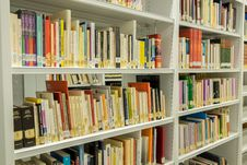 Free Library, Shelving, Public Library, Bookcase Stock Photo - 134700730