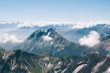 Free Aerial View Of Alps Mountains Royalty Free Stock Photo - 134722485