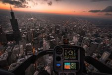 Free Aircraft Flying Above City Royalty Free Stock Photo - 134723155