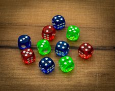 Free Games, Indoor Games And Sports, Dice, Dice Game Royalty Free Stock Image - 134764666