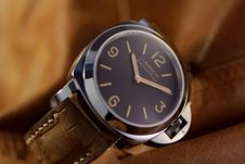 Free Watch, Watch Accessory, Strap, Brown Stock Image - 134765521