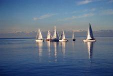 Free Sailboat, Calm, Sail, Waterway Royalty Free Stock Photos - 134765578
