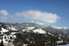 Free View Over The Mountains In Winter Stock Photos - 13480343