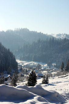 Free Village Under Snow Stock Photography - 13480362