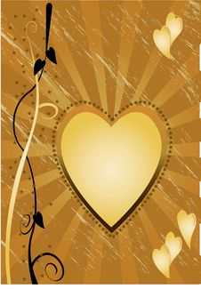 Free Gold Heart Royalty Free Stock Photo - 13489385