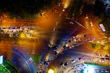 Free Bird S Eye View Of Roadway During Evening Stock Photo - 134821980