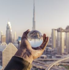 Free Person Holding Clear Glass Ball Royalty Free Stock Photography - 134879577