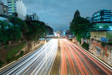 Free Time Lapse Photography Of Road With Car Lights Stock Image - 134879621