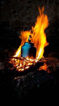 Free Fire, Heat, Flame, Campfire Stock Image - 134930411