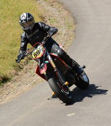 Free Racing, Stunt Performer, Motorcycle Racing, Supermoto Stock Photo - 134930820