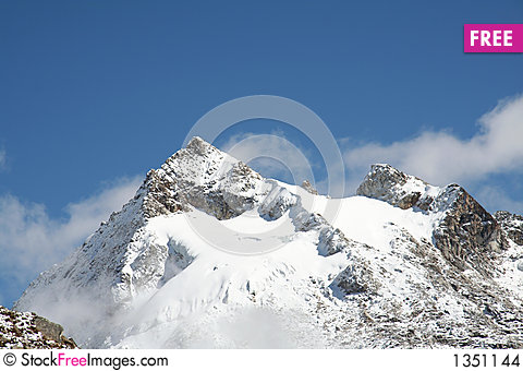 Peak Urus in the Cordilleras,Peru Stock Photo