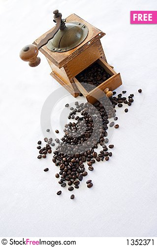 Old coffe grinder Stock Photo