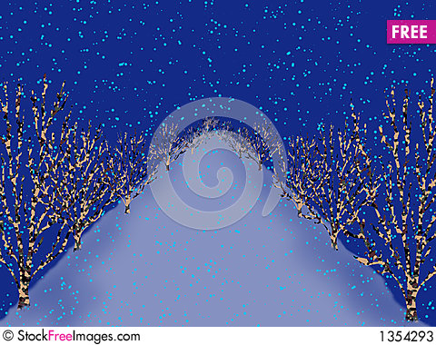 Ice landscape Stock Photo