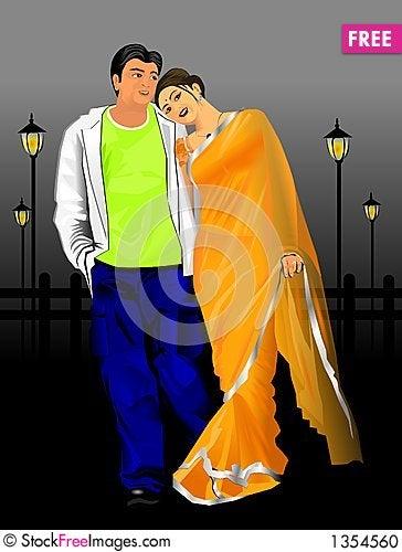 Free Indian Couple Stock Photo - 1354560