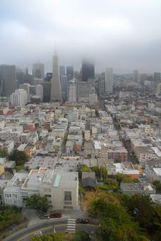 Free San Francisco. Downtown Stock Images - 1350354