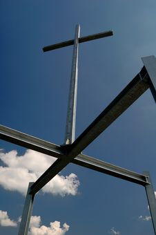 Free Cross On The Sky Royalty Free Stock Photo - 1350535