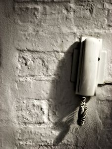 Free Phone On Distressed Wall Royalty Free Stock Photo - 1350715