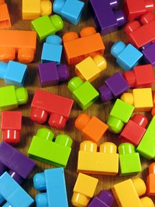 Free Brightly Coloured Plastic Building Blocks. Royalty Free Stock Photos - 1350748
