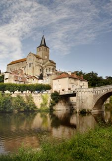 Medieval Church And Buildings Royalty Free Stock Images