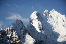 Free Cordilleras Mountain Royalty Free Stock Photo - 1351105