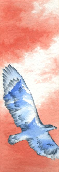 Free Flying Bird Artwork Stock Photos - 1351403
