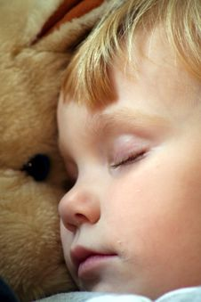 Free Asleep With A Stuffed Horse 3 Royalty Free Stock Photos - 1351978