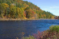 Free Fall Foliage By Stream Stock Photo - 1352560