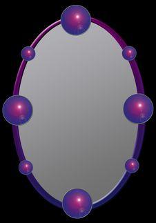 Frame With Shiny Balls Stock Photo