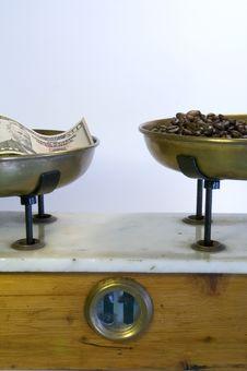 Coffee And Money Stock Photo
