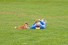 Free Man & Dog Royalty Free Stock Photography - 1354267