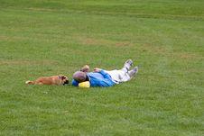 Free Man & Dog Royalty Free Stock Image - 1354306