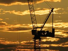 Hoisting Crane And Sky Royalty Free Stock Image