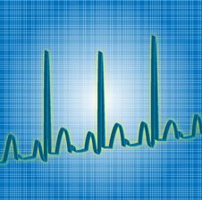 Free Heartbeat Blue Royalty Free Stock Photos - 1355148