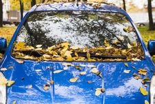 Free An Autumn Car Royalty Free Stock Images - 1355449
