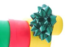 Free Stacked Gift Boxes And Bows Stock Photos - 1355463