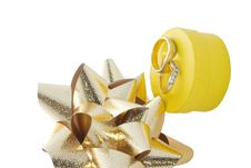 Free Rings Gift Box And Bows Stock Image - 1355471