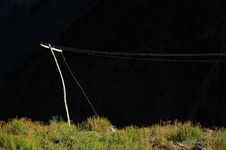 Rural Power Line Royalty Free Stock Images