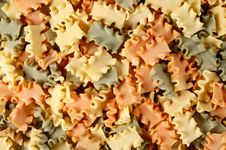 Pasta In Tricolor Ribbon Style Stock Photo