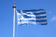 Free Greek Flag Royalty Free Stock Photography - 1359417