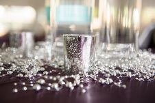 Free Stainless Steel Container Surrounded By Beads Stock Photo - 135065700