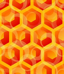Free Seamless Hexagon Pattern Stock Photography - 13513062